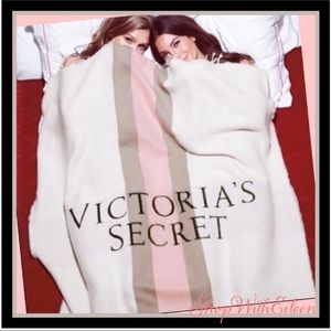 Victoria Secret Limited Edition Gray Pink Blanket